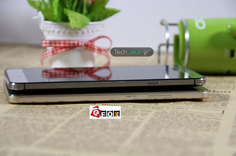 Elephone P7000 Huawei mate 7 side