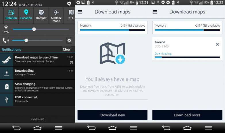 Nokia Here Maps screenshot UI Play Store