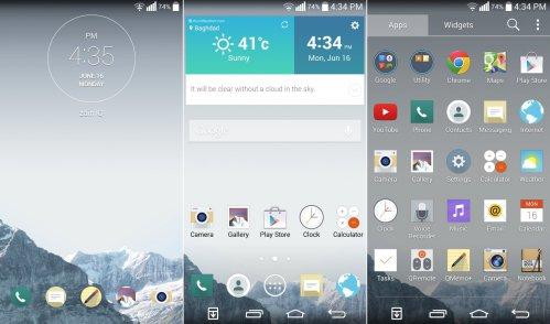 LG G3 UI android εικονες