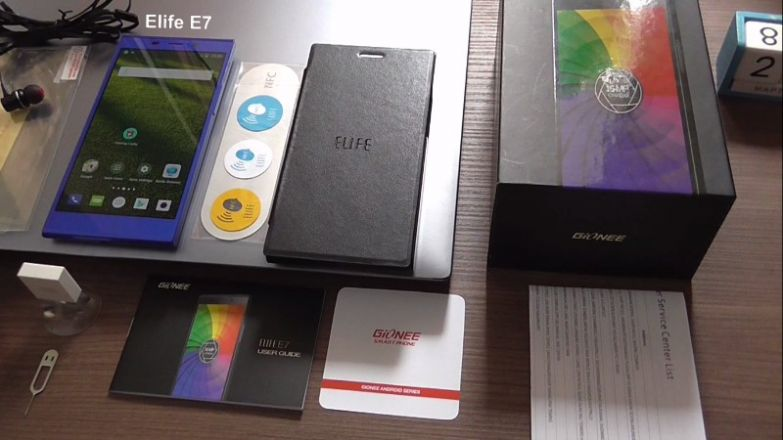 Gionee Elife E7 unboxing