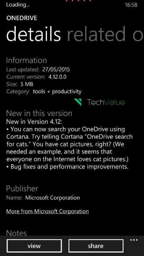 OneDrive voice image search cortana