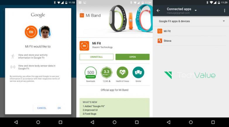 Xiaomi Mi Band Mi Fit Google Fit