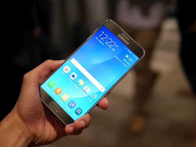 Samsung Galaxy Note 5 screen
