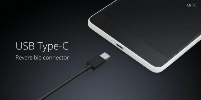 mi 4c smartphone usb type c