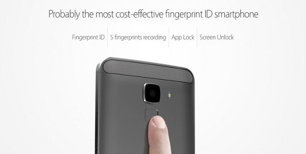 Bluboo Xfire 2 fingerprint scanner