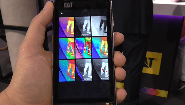 CAT S60 θερμικη καμερα modes