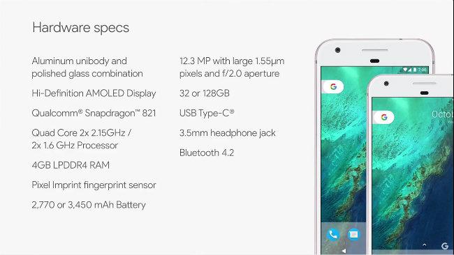 google-pixel-xl-specs