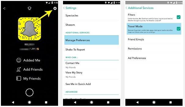 SnapChat, πώς μπορώ να εξοικονομήσω μπαταρία και data; 2