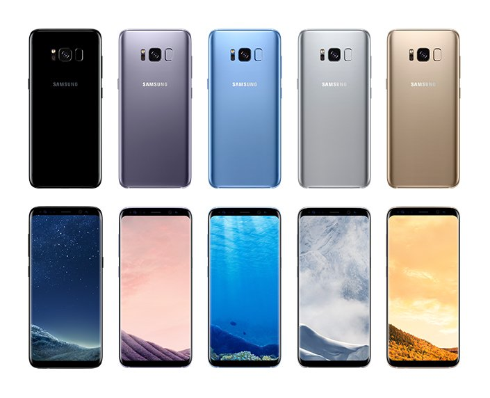 Samsung Galaxy S8 (colors)