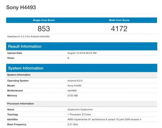 Sony Xperia XA3 κάνει εμφάνιση σε benchmark με SnapDragon 660 1