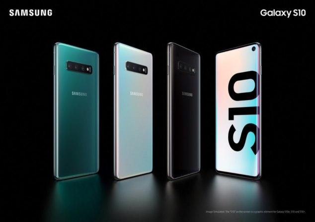 Samsung Galaxy S10 colors