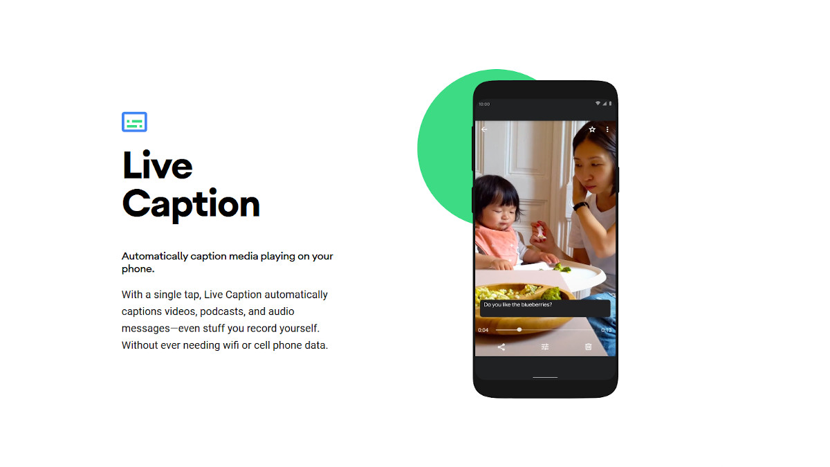 Android 10 Official - Live Caption