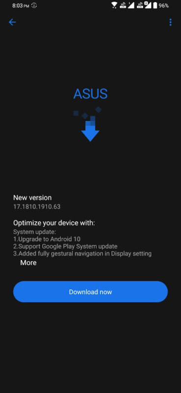 ASUS Zenfone 6 Android 10 Update - Screenshot