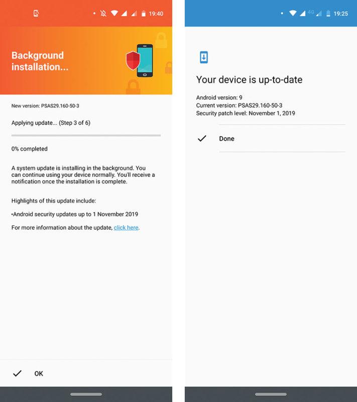 Motorola One Vision Update November Screenshot