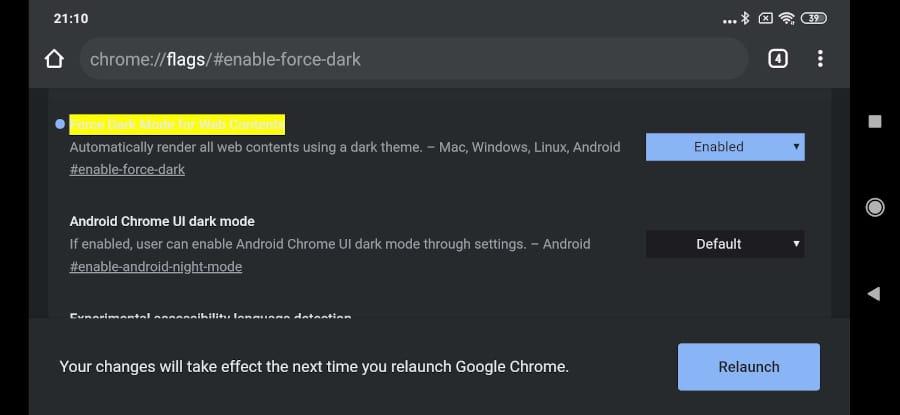 chrome dark mode για όλες τις σελίδες στο ίντερνετ