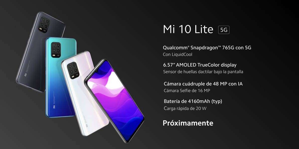 "Xiaomi Mi 10 lite SnapDragon 765G 6.57"" AMOLED"