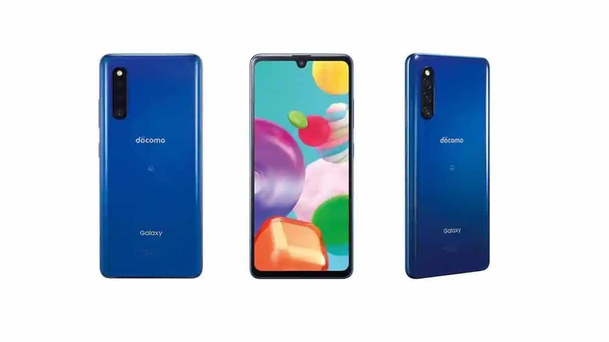 Samsung Galaxy A41 σε μπλε
