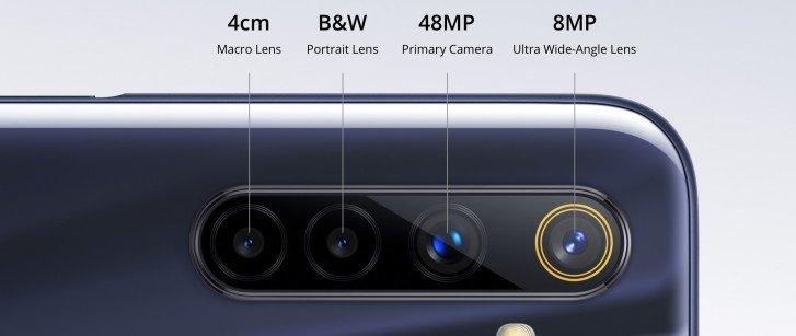 Realme 6S 48MP βασική κάμερα, 8MP Ultra Wide Angle lens
