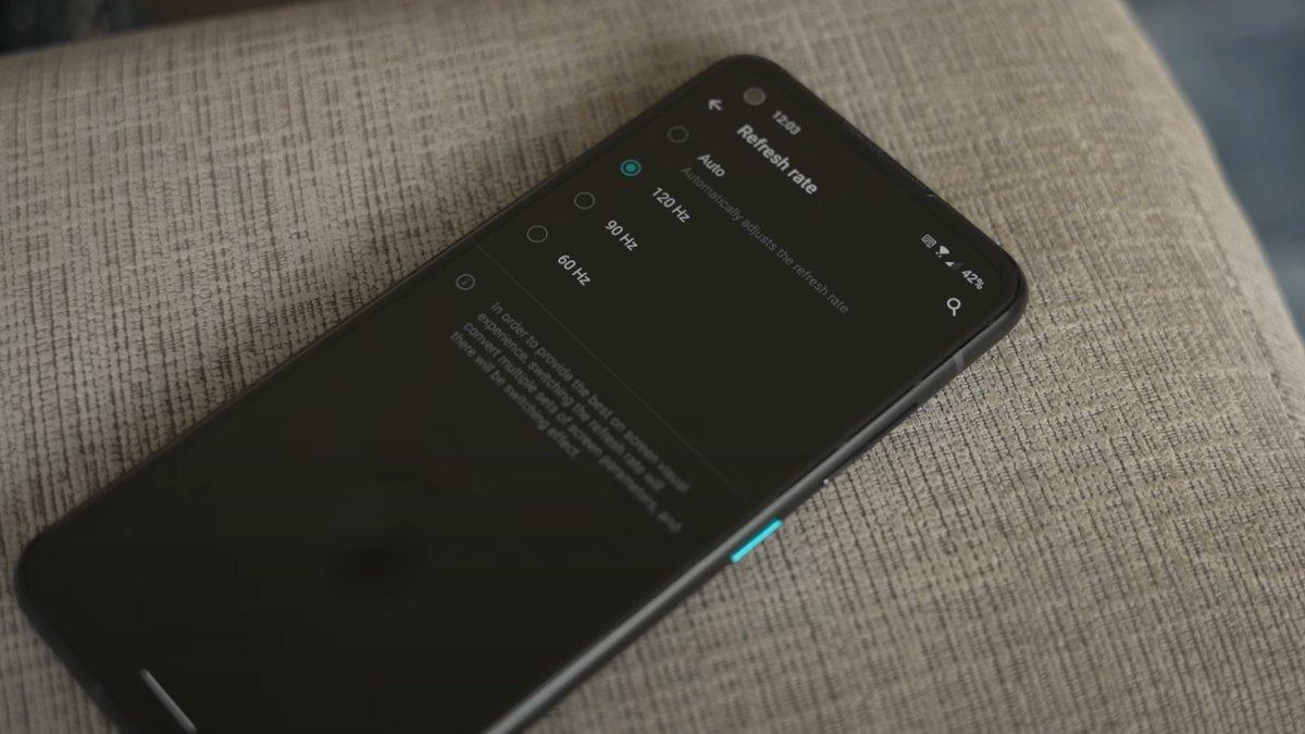 Asus Zenfone 8 ρυθμός ανανέωσης οθόνης